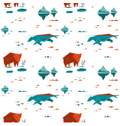Bear seamless pattern vector