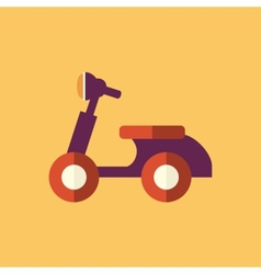 Bike transportation flat icon vector