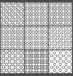 black crosses seamless pattern set vector image vector image