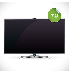 Black Glossy LCD TV vector image