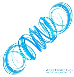 Blue abstract spiral vector