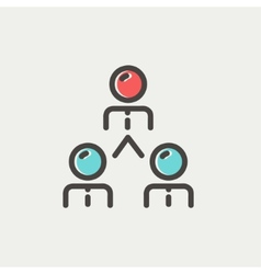 Business team thin line icon vector image vector image
