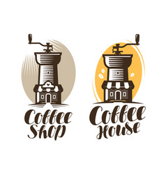Cafeteria coffee house cafe logo or label hot vector