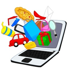 Cartoon online shopping vector