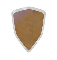 cartoon shield vector image