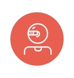 Computer web camera thin line icon vector