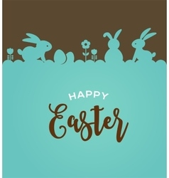 Easter design with cute banny vector