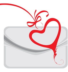envelope and decorative heart vector image vector image