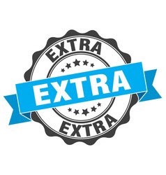 Extra stamp sign seal vector