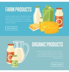 Farm and organic products website templates vector image vector image