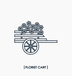 florist cart icon vector image