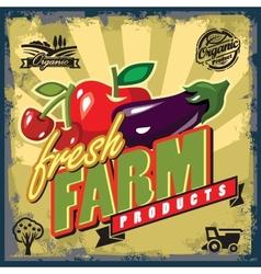 Fresh farm sign vector