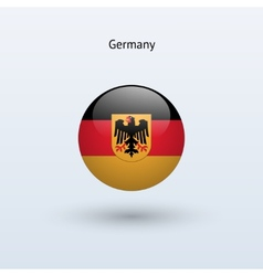 Germany round flag vector