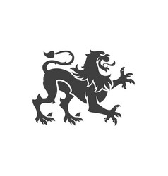 Heraldic lion isolated on white background vector