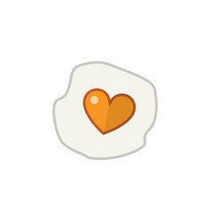 Isolated fried egg flat icon scrambled vector