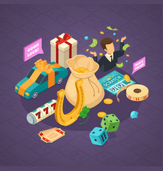 lottery isometric concept vector image