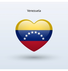 Love venezuela symbol heart flag icon vector