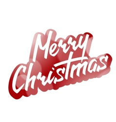 Merry Christmas Hand Lettering Text on Blurred vector image