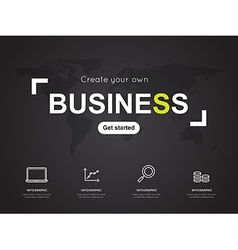 Modern infographic for business concept vector