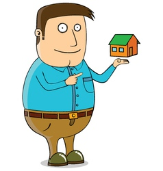 Offering mini house vector image