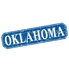 Oklahoma blue square grunge retro style sign vector