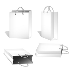Set of White Shopping Bags vector image