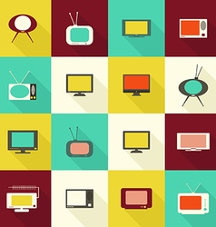 TV flat icon vector image vector image