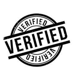 Verified rubber stamp vector