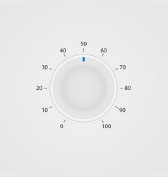 White control panel tumbler vector