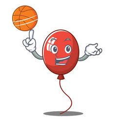 With basketball balloon character cartoon style vector