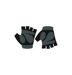 Gloves for biker icon flat style vector