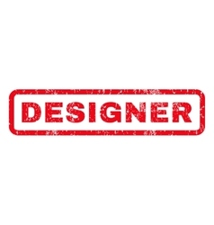 Designer rubber stamp vector