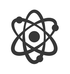 atom molecule symbol vector image