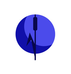 Reed and moon symbol vector