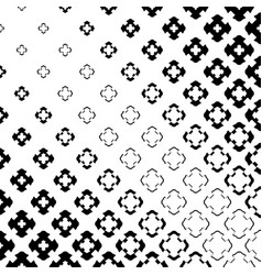 Halftone cross seamless pattern in diagonal grid vector