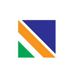 square line business logo vector image