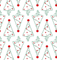 Christmas tree seamless pattern vector