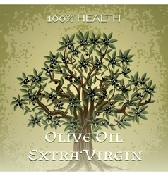 Olive oil extra virgin - 100 percent health vector