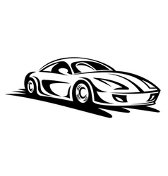 Fast moving car vector