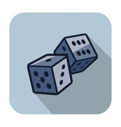 Dice cubes vector