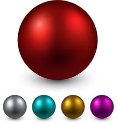 Set of color balls vector image