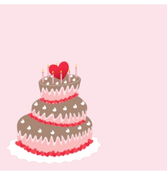 Wedding cake valentines day vector