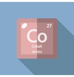 Chemical element cobalt flat vector