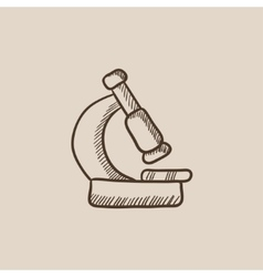 Microscope sketch icon vector