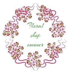 Elegant Bright logo for a flower shop vector image