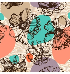 Seamless poppies vector