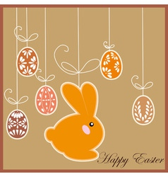 antique postcard with Easter rabbit vector image