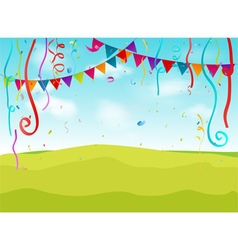 Birthday decoration background vector