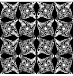 Black and white pattern of twisted squares vector image vector image