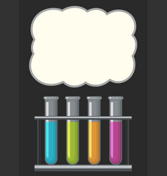 border design with science beakers vector image vector image